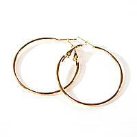 Серьги кольца золотистые  d-3cм