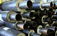 Труба стальная в оцынкованой (SPIRO) оболочке 32/90