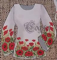 Женская блуза, заготовка под вышиванку, габардин, 44-56 р-ры, 300/340 (цена за 1 шт. + 40 гр.)