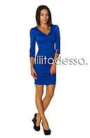 Платье с плечиками синий, фото 1