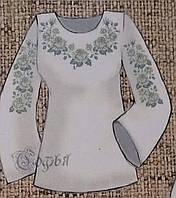 Яркая заготовка под вышитую женскую блузу на натуральных тканях, 44-56 р-ры, 420/470 (цена за 1 шт. + 50 гр.)