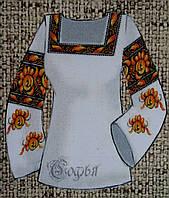 Стильная женская блуза в виде заготовки для вышивания на габардине,44-56р-ры, 300/340 (цена за 1 шт. + 40 гр.)