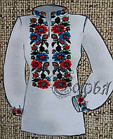 Яркая заготовка под вышитую женскую блузу на натуральных тканях, 44-56 р-ры, 380/355 (цена за 1 шт. + 25 гр.)