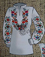 Стильная женская блуза в виде заготовки для вышивания на габардине,44-56р-ры, 255/230 (цена за 1 шт. + 25 гр.)