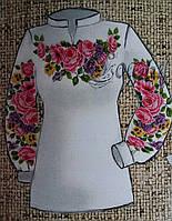 Модная блуза для женщин в виде заготовки для вышивания, габардин, 44-56 р-ры, 255/230 (цена за 1 шт. + 25 гр.)
