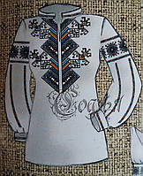 Заготовка для вышивание женской блузы на габардине, 44-56 р-ры, 255/230 (цена за 1 шт. + 25 гр.)
