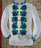 Красивая женская блуза на габардине как заготовка для вышивания, 44-56 р-ры, 255/230 (цена за 1 шт. + 25 гр.)