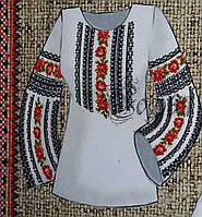 Вышиванка для женщин (заготовка на натуральных тканях), 44-56 р-ры, 420/470 (цена за 1 шт. + 50 гр.)
