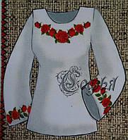 Красивая женская блуза на габардине как заготовка для вышивания, 44-56 р-ры, 300/340 (цена за 1 шт. + 40 гр.)