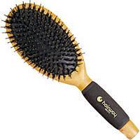 Щетка массаж. овальная: подушка черная, щетина дикобраз+ штифты нейл. Hairway