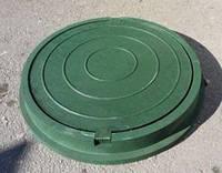 Люк канализационный полимерно песчаный  1.5  т зеленый