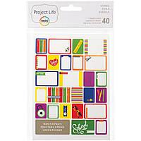 Набор карточек Project Life School 40 шт (718813977111)