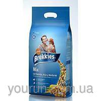 Акция! 2 мешка -17%, по 908 каждый! Brekkies Dog Excel Mix Fish - корм для собак курица и рыба