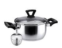 Внимание Сенсацены! Кастрюля Ø18 см – 2,4 л + кухонный таймер в подарок (посуда Vinzer)