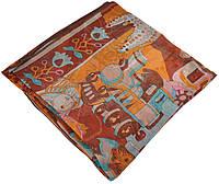 Женский платок Hermes 25410 сказка коричневый
