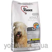 Сухой корм для собак 1st Choice ADULT HYPOALERGENIC - гипоаллергенный  (утка/картофель) 2.72кг