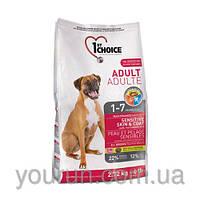 1st Choice ADULT SENSITIVE SKIN & COATAll Breed для собак с чувствительной кожей 2.72кг