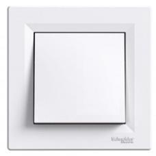 Выключатель одноклавишный ASFORA SCHNEIDER ELECTRIC (белый) EPH0100121
