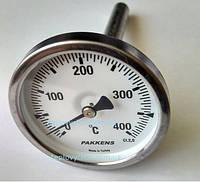 """Термометр 0-400°С, Ø63мм, з різьбою 1/2"""" біметалічний, осьовий, PAKKENS"""