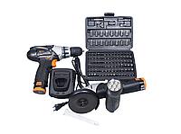 Набор инструментов VERTEX VR-1016 KIT (шлифовальная машина-шуруповерт-фонарь)