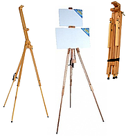 Мольберт тренога раскладной переносной ТМ-2 для 1 или 2 холстов, бук, высота до 185см, фото 1