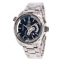 Механические часы в стиле TAG - Carrera Caliber 36 цвет стальной браслет