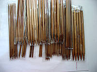 Набор спиц 20 см,  из бамбука для чулочного вязания, 15 номеров по 5 штук