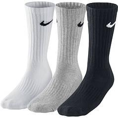 Носки Nike 3Ppk Value Cotton Crew SX4508-965 (3 шт) (Оригинал)