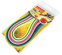 Бумага для квиллинга ЦВЕТЫ 9 цветов (5мм х 420мм)  для создания панно из бумажных лент, фото 1