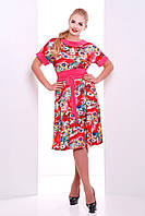 Легкое летнее платье Кристина (коралл) (50-56), фото 1
