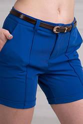 Женски стильные шорты синего цвета
