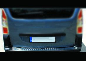 Накладка на задній бампер Peugeot Partner Tepee (нерж.)