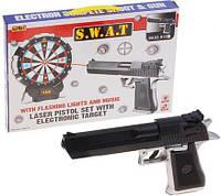 Детский пистолет с лазерным прицелом и дартсом XZ-H32