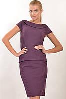 Модная блуза из жаккарда с молнией на спинке 42-52 размеры