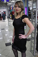 Коктельное платье черное со стразами