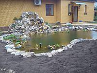 Строительство искусственных водоёмов и водопадов