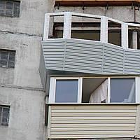Вынос балкона по полу