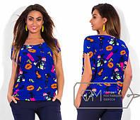 """Стильная женская футболка для пышных дам """" Губы """" Dress Code"""
