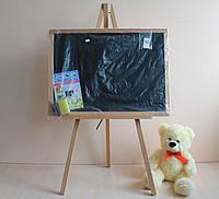 Мольберт двухсторонний магнитный для рисования мелом и маркерами  для детей