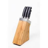 Набор металлический ножей на деревянной подставке, Rossler MR24