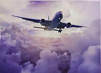 Фотообои, облако, самолет, небо, светлый,  ПРЕСТИЖ № 23 размер 272смХ196см