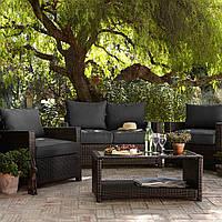 Набор садовой мебели George Home Jakarta Deluxe Conversation Sofa Set in Charcoal - 4 Piece