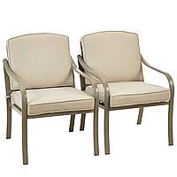 Набор садовых стульев George Home 2 Haversham Classic Dining Chairs Linen