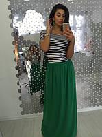 Длинное женское платье полоска (Турецкая вискоза)