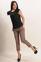 Стильные укороченные брюки длиной 7/8 из костюмной ткани 42-52 размер