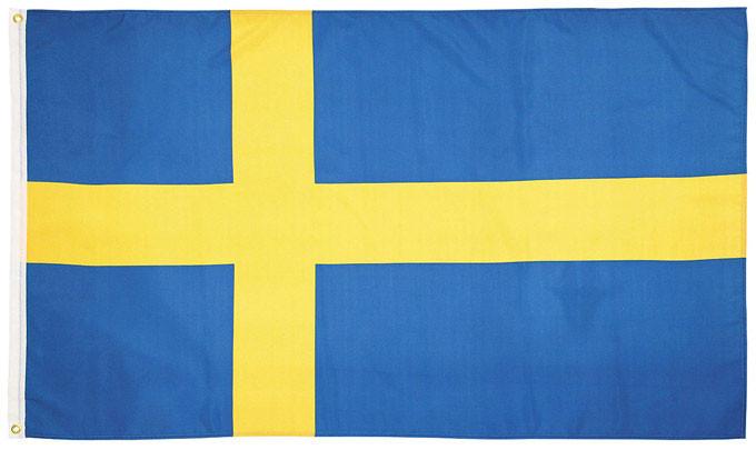 Национальный флаг Швеции 90х150см MFH 35104D