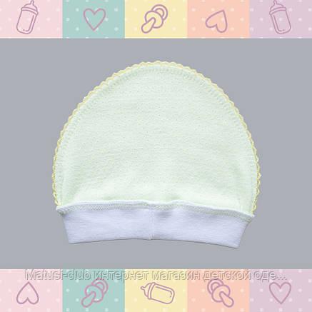 Чепчик для новорожденного -Колпачок для Мальчика, Хлопок-Ажур, , 0-3 месяцев, 0101Kay В наличии 56,62 Рост, фото 2