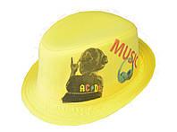 Шляпа детская челентанка фотопринт девочка AC&DC