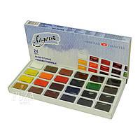 Набор художественных акварельных красок «Ладога», 24 цв., картонная упаковка