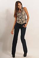 Классические узкие брюки из стрейч-костюмки 42-52 размер
